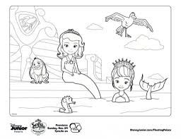 sofia the first mermaid coloring pages aecost net aecost net