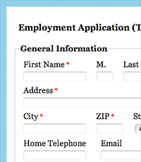web form templates for your organization