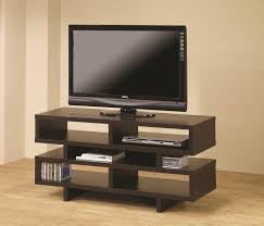 Tv Table Coaster Tv Stands Contemporary Tv Console With Open Storage