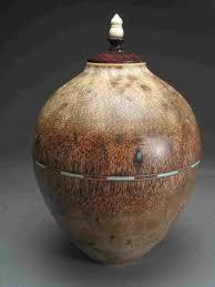 burial urn handcrafted turned wood urns for sale rogers woodturner