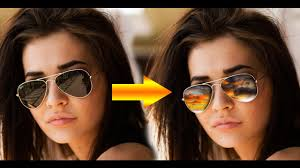 add sunglasses reflection in photoshop slyoutubers youtube