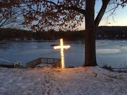 build your own lighted cross outside decoration with pvc