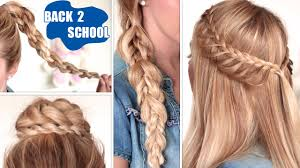 hairstyles quick and easy to do m easy back to school hairstyles cute quick and easy braids for
