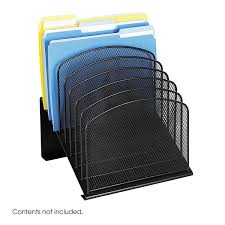 Desk Folder Organizer Safco Products 3258bl Onyx Mesh Desktop Organizer