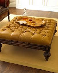 tufted leather ottoman ultimate venue