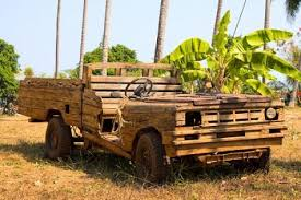 wooden car getting to