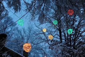 Christmas Light Balls For Trees by Lighted Christmas Balls 2011 01