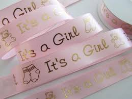 it s a girl ribbon embellishment world baby shower 25 yards spool pink satin 7 8
