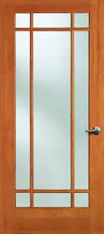 Fir Doors Interior Exterior Solid Douglas Fir Dual Pane 9 Lite Marginal Door