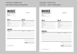 invoice template  us and eu  templates  creative market with invoice template  us and eu  templates from creativemarketcom