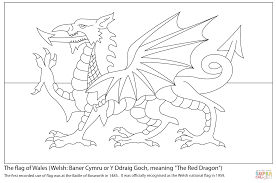 flag wales coloring free printable coloring pages