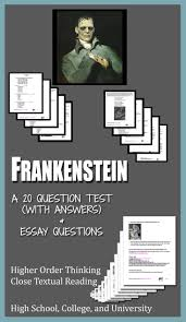 frankenstein literature ela test essay questions entire novel