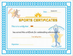 sports certificate templates budget template free