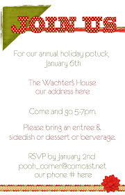 fearsome christmas potluck invitation samples theruntime com