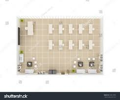 classroom top view illustration stock illustration