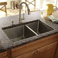 undermount kitchen sink with faucet holes sinks kitchen sinks and sink strainer on