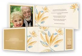 einladungskarten goldene hochzeit mit foto goldene hochzeit einladungen vorlage feinekarten