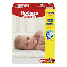 huggies snug and dry size 1 baby disposable diapers 264 count