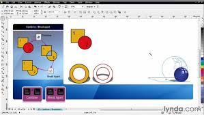 corel draw x4 blend tool working with combine and break apart