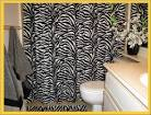 Bathroom Pics: Zebra Shw Curtain, bathroom interior, zebra print ...