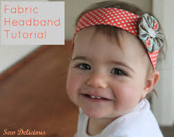 fabric headband fabric headband and yo yo tutorial sew delicious
