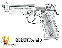 gun coloring pages 07 cool pics pinterest guns army and