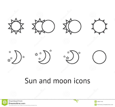 sun and moon icons stock vector illustration of crescent 26857190