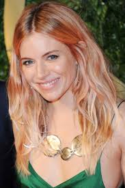 golden apricot hair color how to get sienna miller s rose gold hair colour at home