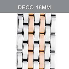 deco 16 two tone 18 bracelet straps by michele official site