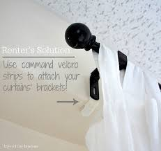 How To Put Curtain Rods Up How To Attach Curtain Rods Without Drilling Nrtradiant Com