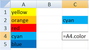excel setting the color of a cell to another stack overflow
