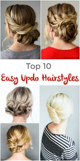 Long Hairstyles Easy Updos by Top 10 Easy Updo Hairstyles Pinned And Repinned