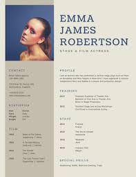actor resume template brown simple photo acting resume templates by canva