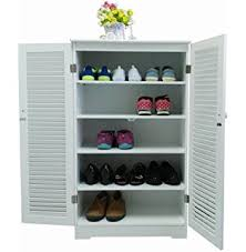 Tall Shoe Cabinet With Doors by Woodluv Free Standing Tall Hallway Bedroom Bathroom Shoe Rack