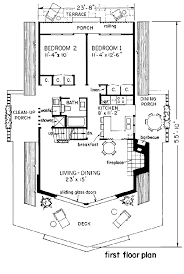 cabin blueprints floor plans house plan 43048 at familyhomeplans com