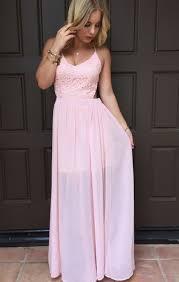blush pink criss cross back maxi dress