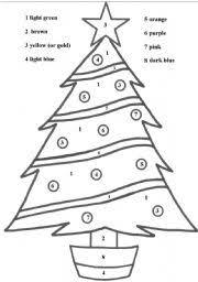 esl worksheets for beginners christmas tree