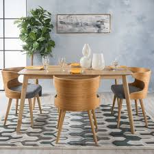 Century Dining Room Tables Camille 5 Wood Mid Century Dining Set Reviews Allmodern