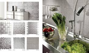 plain modest stainless peel and stick backsplash 4 pieces peel and