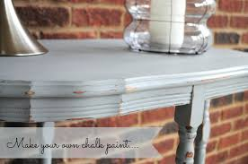 make your own chalk paint diy refinished end table