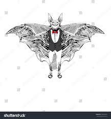 How To Draw Halloween Bats Bat Hand Draw Style Halloween Elements Stock Illustration