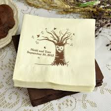 wedding napkins personalized mr and mrs tree cocktail wedding napkins set of 50