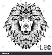 vector illustration lions head picture tattoo stock vector