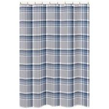 Navy And Coral Shower Curtain Buy Plaid Shower Curtain From Bed Bath Beyond