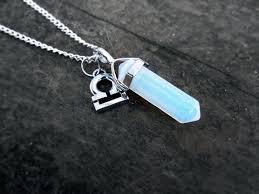 opal stone silver necklace images Opal quartz necklace zodiac necklace custom zodiac sign jpg
