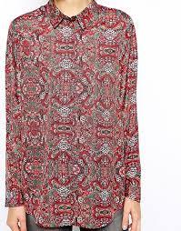 paisley blouse asos asos blouse in paisley print