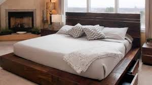 wooden bed frame with drawers uk designs youtube