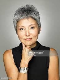 japanesse women with grey hair asian woman grey hair stock photos and pictures getty images