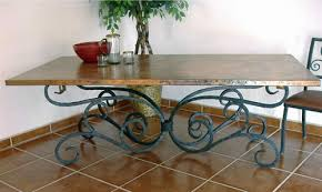 wrought iron dining table glass top industrial cast iron dining table base style 8 wood with regard to