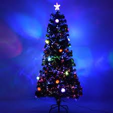 costway 6 ft fiber optic artificial christmas tree w multicolor